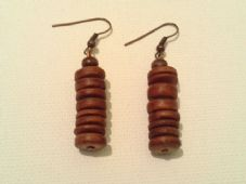 Wooden disc earrings (2)